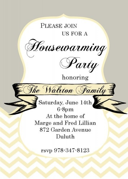 Sarhw Photo On Housewarming Party Invitation Template