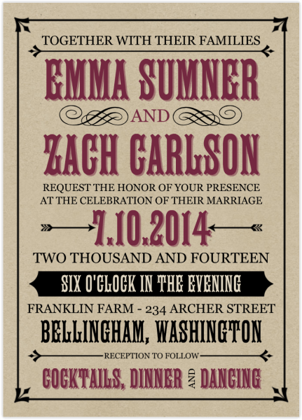 Create Perfect Invitations, Wedding Book & Album For A Rustic