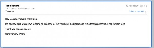 Film Screening – Invitation Letter – My Golden Film Adventure