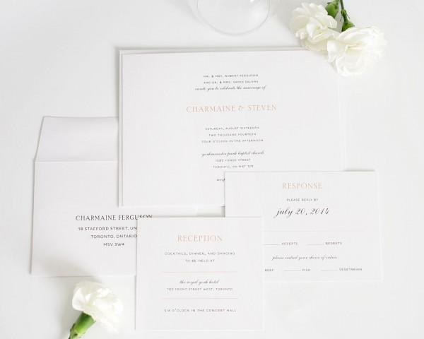 Simple Elegant Wedding Invitations Simple Elegant Wedding