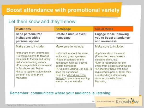 Boost Attendance With Promotional Variety