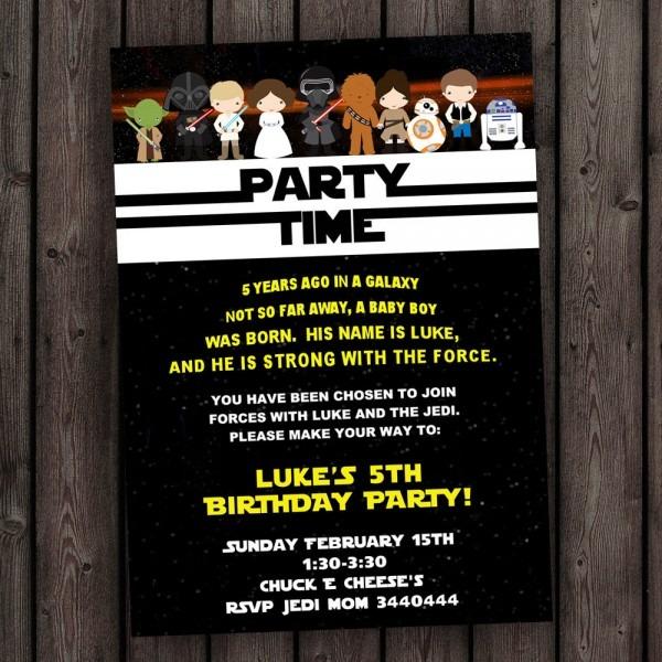 Star Wars Birthday Invitation Star Wars Birthday Invitation