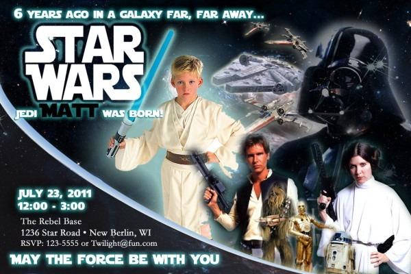 Star Wars Birthday Invitations Star Wars Birthday Invitations For