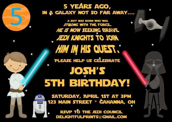 Star Wars Personalized Birthday Invitations — Birthday Invitation