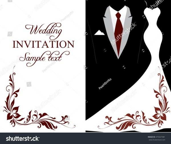 Royalty Free Stock Illustration Of Elegant Black White Wedding