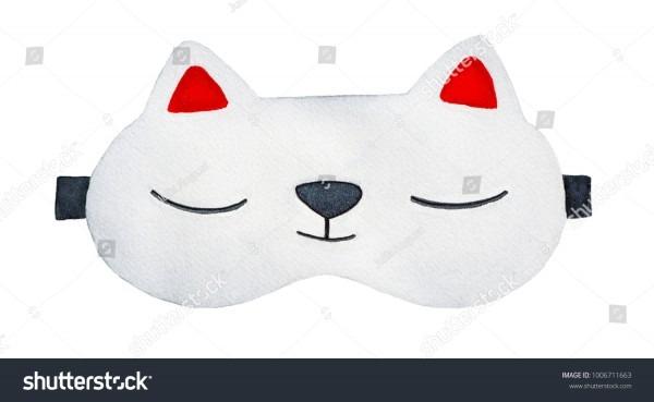 Royalty Free Stock Illustration Of Cute Kitten Sleeping Mask