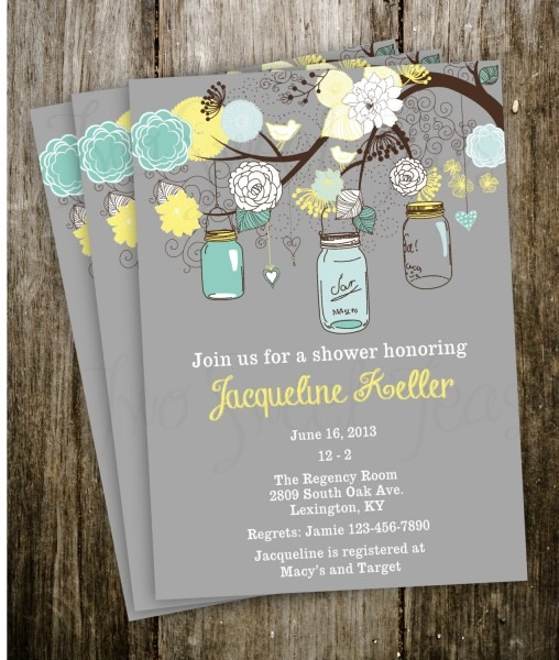 Wedding Invitation Ideas  Attractive Chistmast Mason Jar Wedding