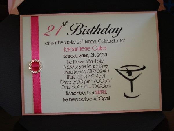 21st Birthday Invitations Wording