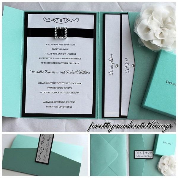Tiffany Wedding Invitations Tiffany Wedding Invitations With A