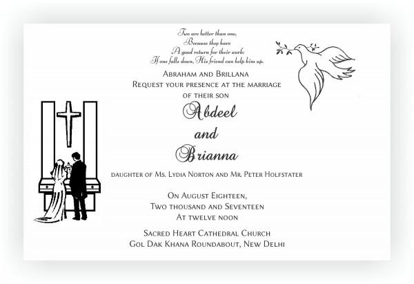 Wedding Ideas  Christian Wedding Invitation Wording