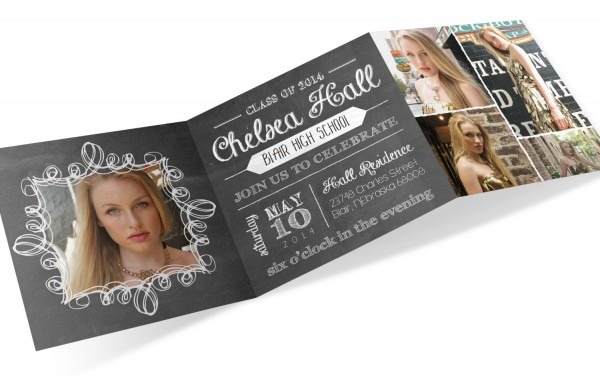 Tri Fold Graduation Invitations