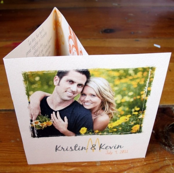 Tri Fold Wedding Invitation