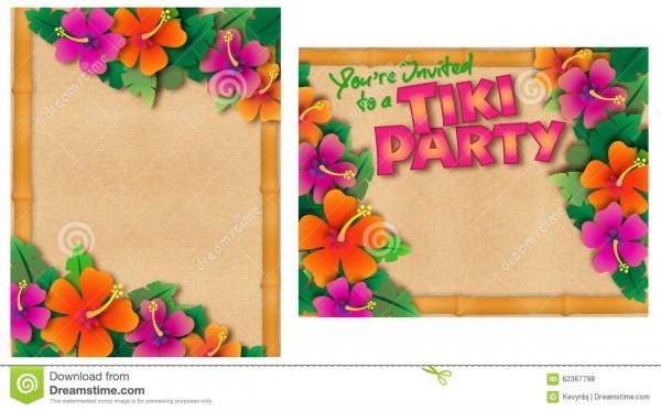 Tropical Party Invitation Stock Illustration  Illustration Of