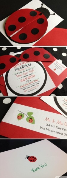 10 Unique Ladybug Baby Shower Invitations Your Guests Will