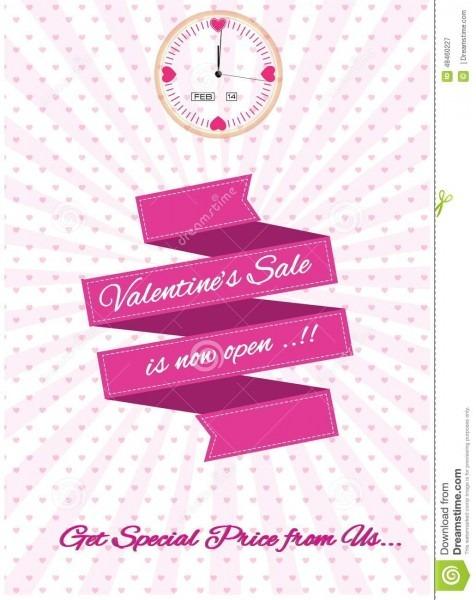 Valentine Sale Design Template Illustration, For Website Content