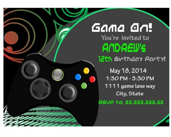 Video Game Party Invitations Video Game Party Invitations For