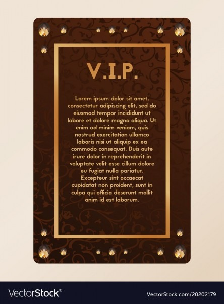 Invitation, Jewel & Certificate Vector Images (15)