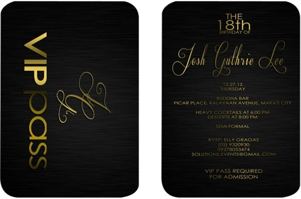 27 Images Of Vip Birthday Party Invitation Template