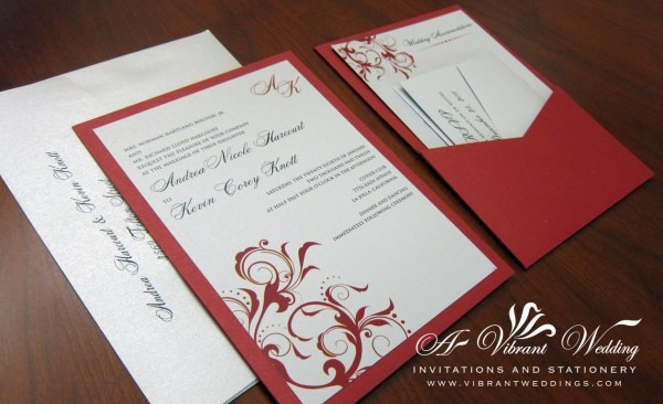 Red Wedding Invitations – A Vibrant Wedding Invitations