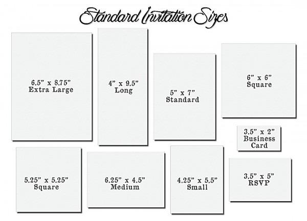 Wedding Invitation Dimensions