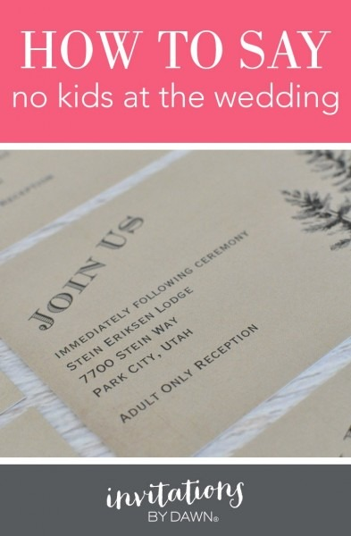 Wedding Invitation No Children Wording How To And Samples