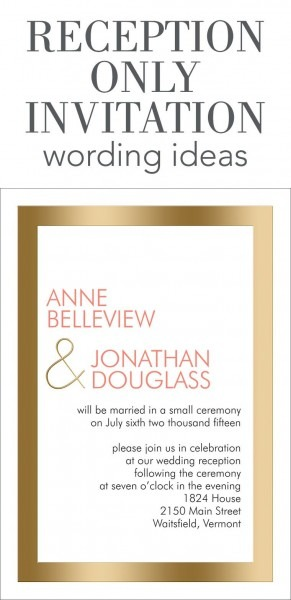 Wedding Reception Invitations From I Combined With Graceful
