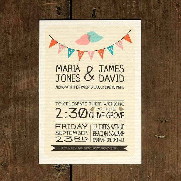 Whimsical Wedding Invitations Whimsical Wedding Invitations With A
