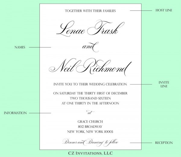 How To  Wedding Invitation Wording — Cz Invitations
