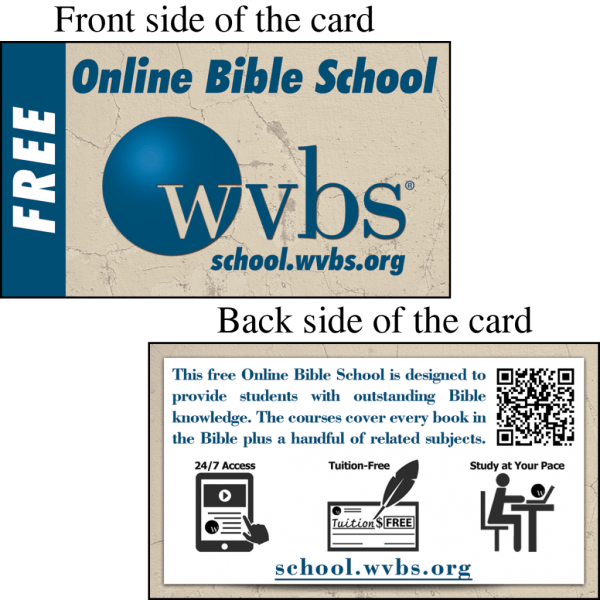 Wvbs Online Bible School Invitation Card