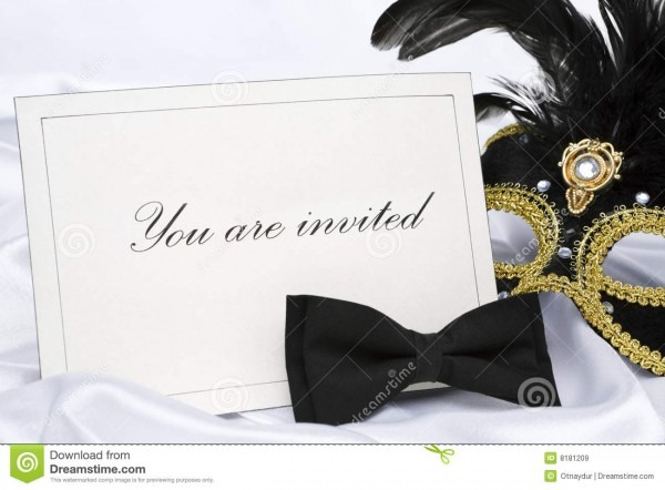You Are Invited To Mask Party Stock Image