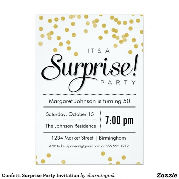 006 Surprise Birthday Party Invitations Templates Free Download
