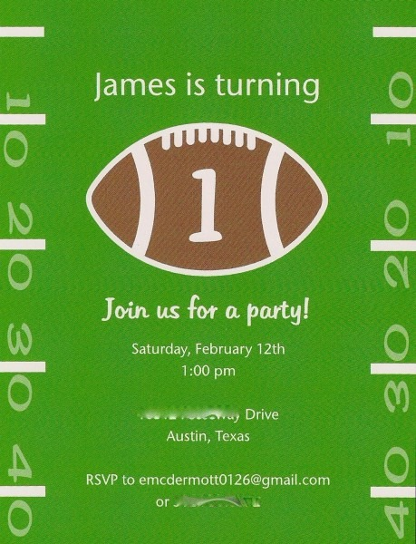 Frightening Football Party Invitations Templates Free Template