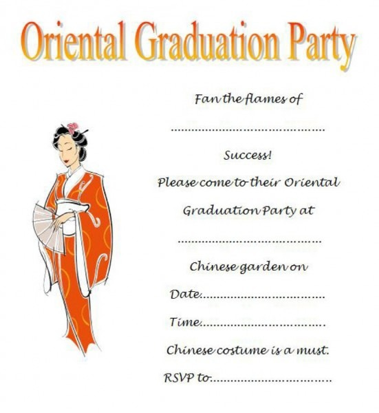 Singular Free Graduation Party Invitation Templates Template Ideas