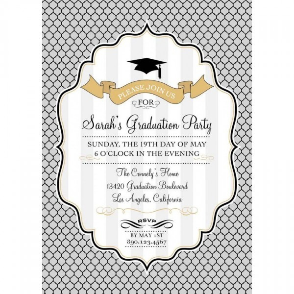 012 Template Ideas Graduation Party Invitations Templates