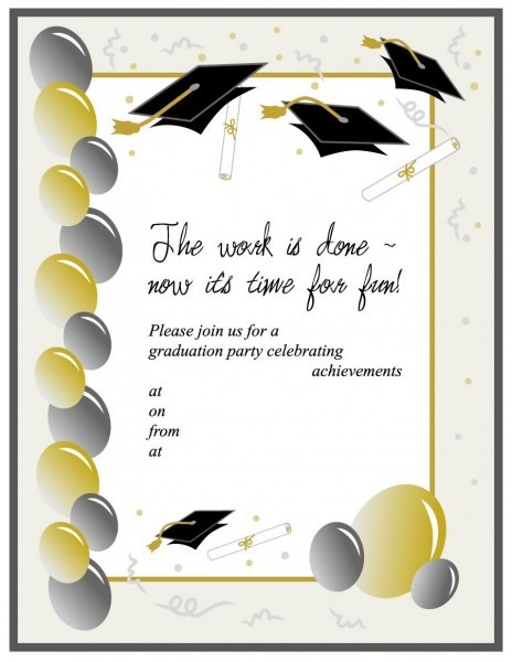 018 Graduation Invitation Templates Free Downloadable Invitations