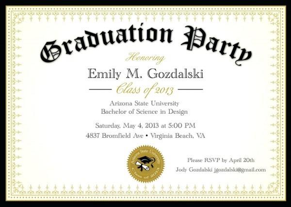 020 Template Ideas Graduation Invitation Templates Free Party Word