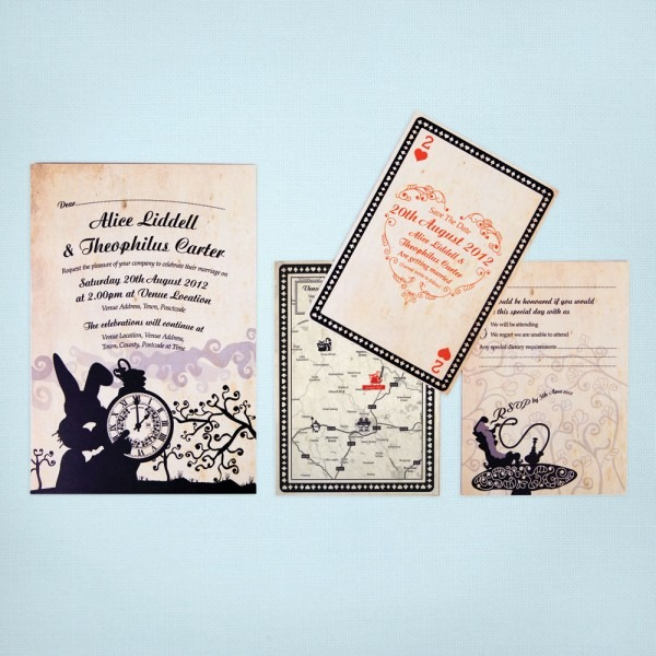 023 Alice In Wonderland Wedding Invitations By Existing Some