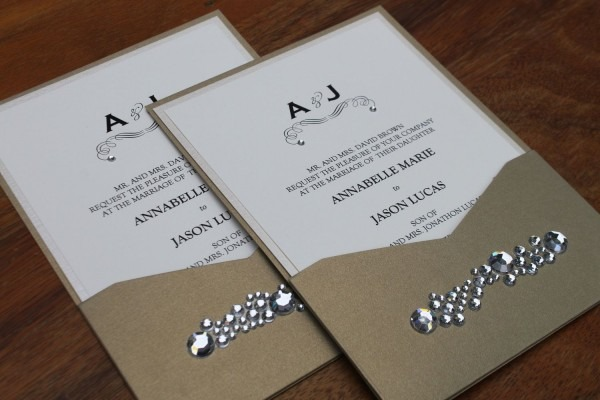 Invitations  , With Crystals, With Lace ~ 098mk Com