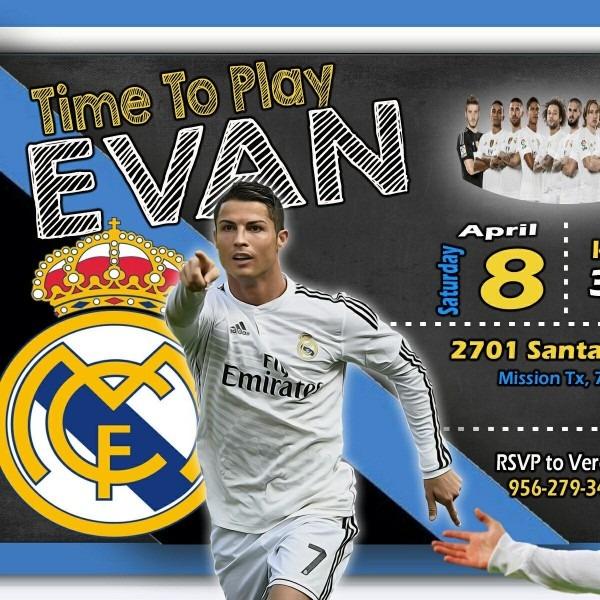 Working On Evan Crisriano Ronaldo Rael Madrid Birthday Invitation