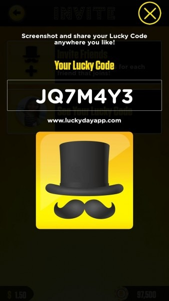Lucky Day Invite Code