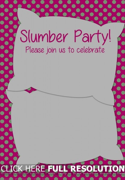 Free Sleepover Invitations Templates