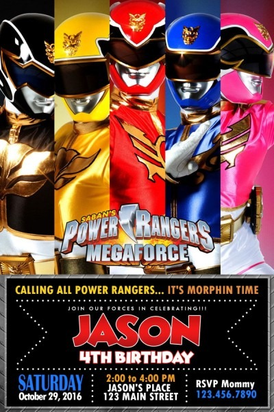 Pin By Oliviadollhouseatl On Power Rangers Party Activities In