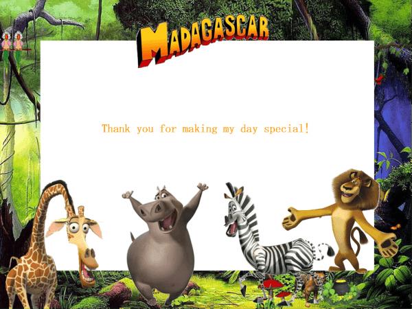 Madagascar 3 Party Printables