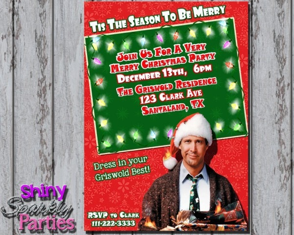 Printable Christmas Vacation Party Invitation