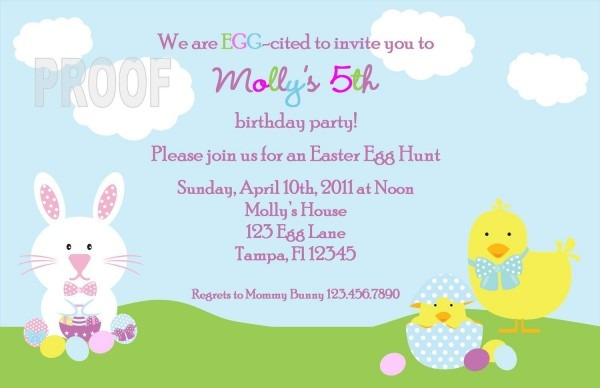 Easter Birthday Invitations Ideas For Cathy