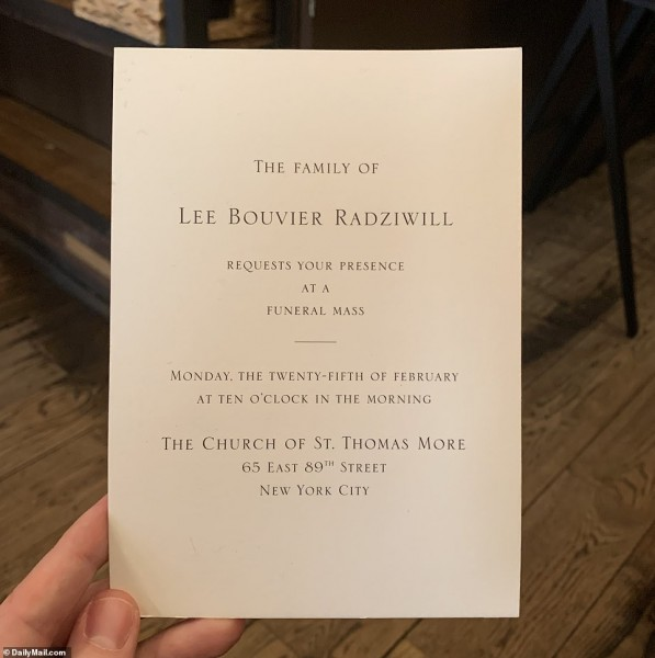 Lee Radziwill Is Remembered At An Invite