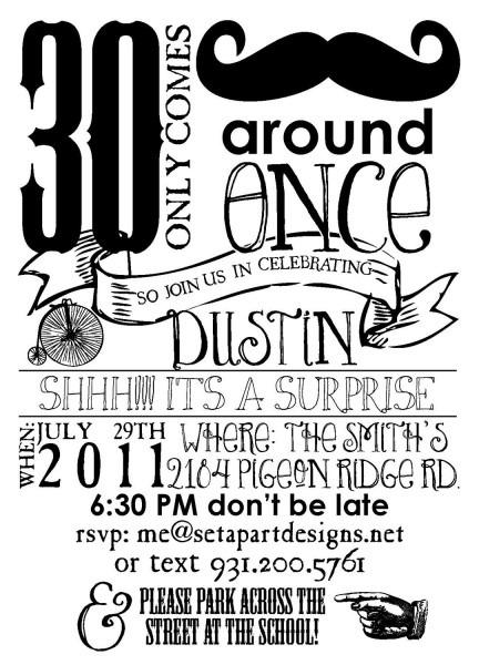 Vintage Style Birthday Invitation (digital File, Printable
