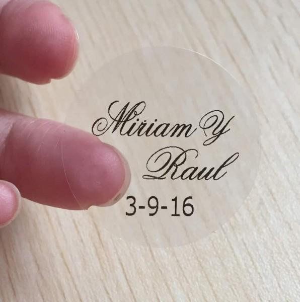Personalised Clear Wedding Invitation Envelope Sticker Seals 120