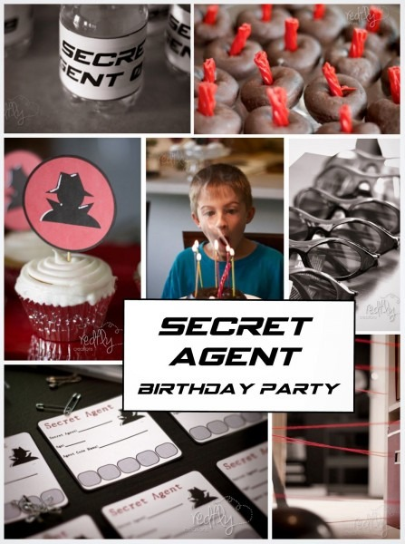 Redfly Creations  Secret Agent Birthday Party