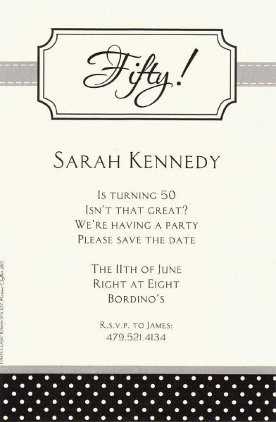100+ 50th Birthday Invitations Quotes